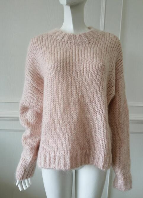knitting sweater Manufacturer in china Womens knitted pullover Angora
