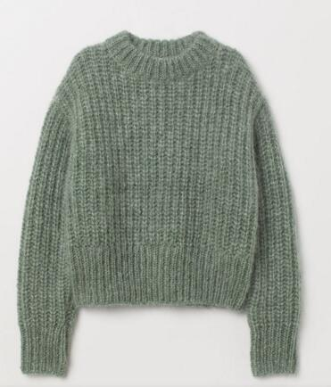 China Sweater Factory Womens knitted pullover with thick Yarn