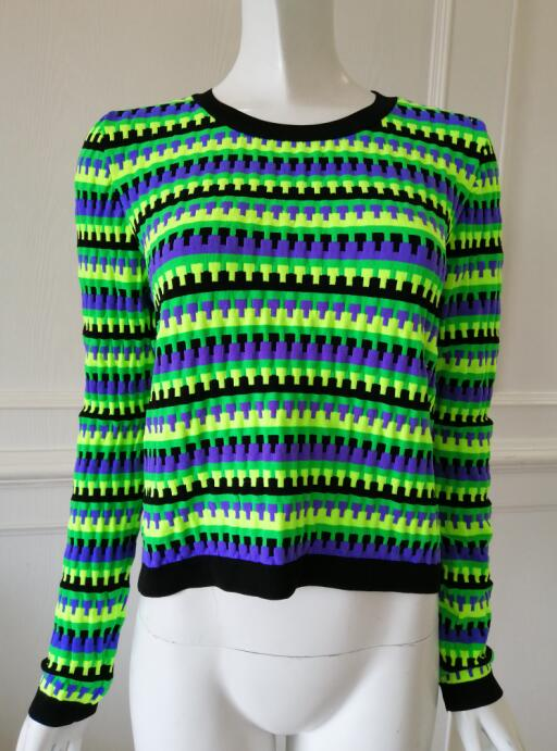 Womens knitted pullover Multicolor texture