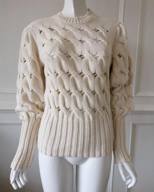 Womens knitted pullover Hole Hollowed out