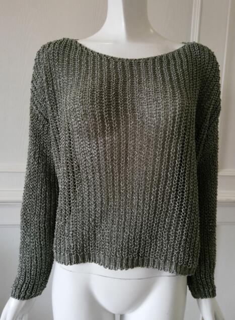 Womens knitted pullover  Hollowed out