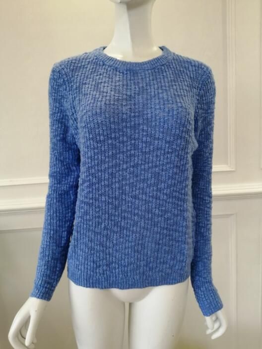 Womens knitted pullover cotton