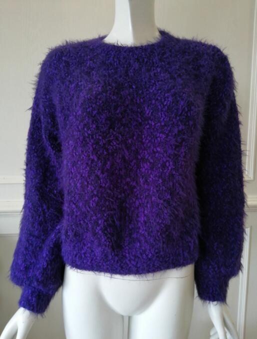 Womens knitted pullover Mohair