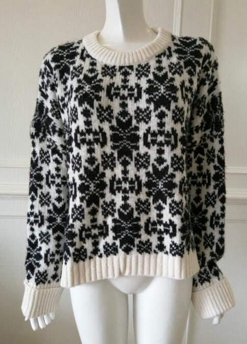 Women's knitted sweater knitwear pullover