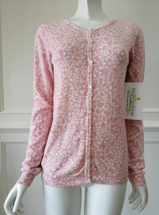 Women's knitted print knitwear