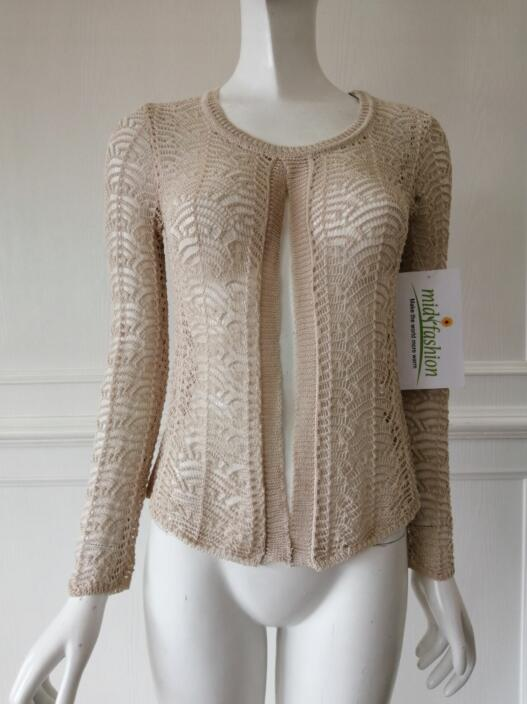 Women's knitted sweater cardigan china