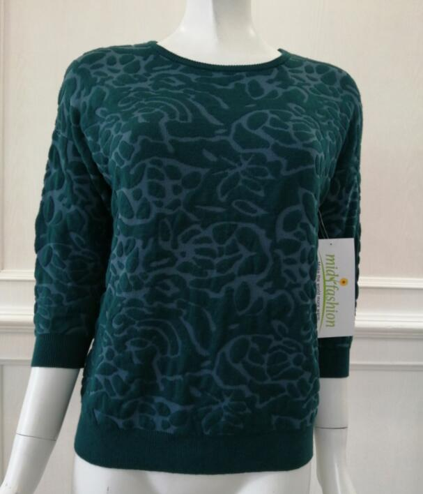 Women's knitted sweater jacquard knitwear