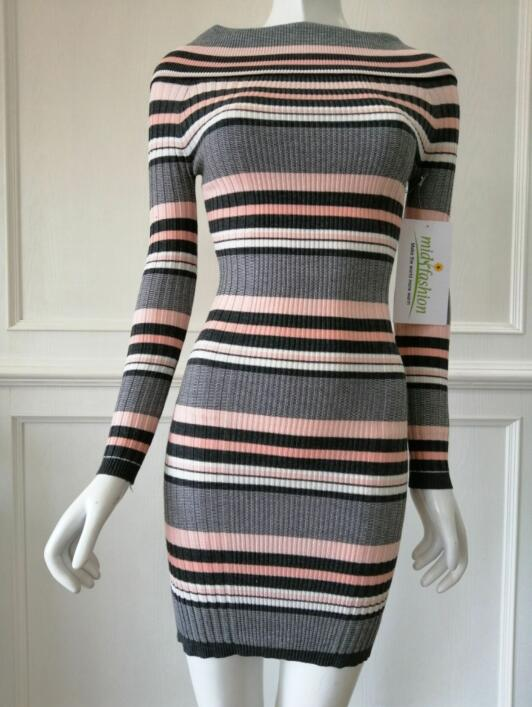 Women's knitted sweater dress knitwear china