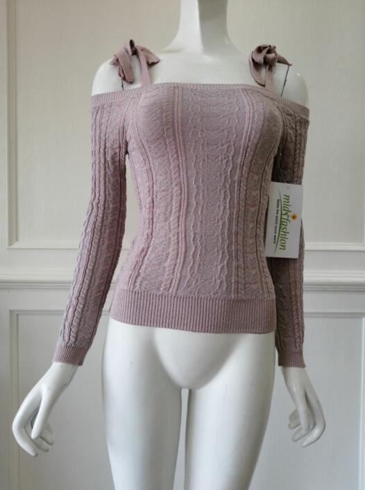 Women's knitted sweater pullover knitwear china