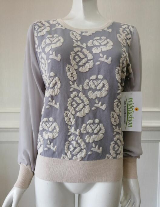 Women's knitted sweater jacquard pullover knitwear