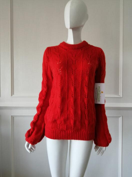 Women's knitted sweater pullover knitwear