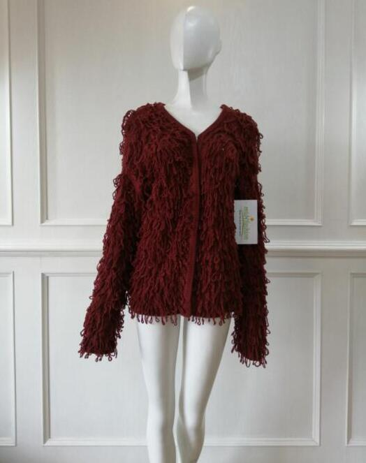 Women's knitted sweater coat china