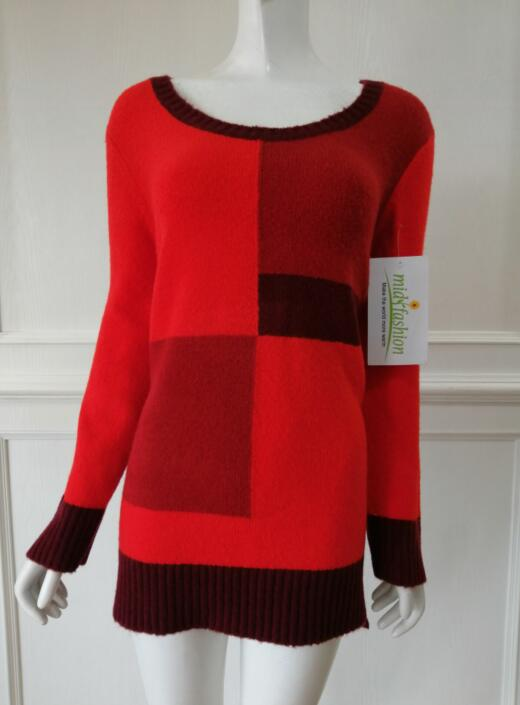 Knit Intarsia Sweater china Women's knitted pullover