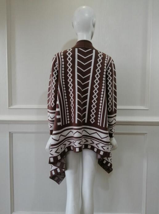 Womens Knitted poncho coat China midifashion