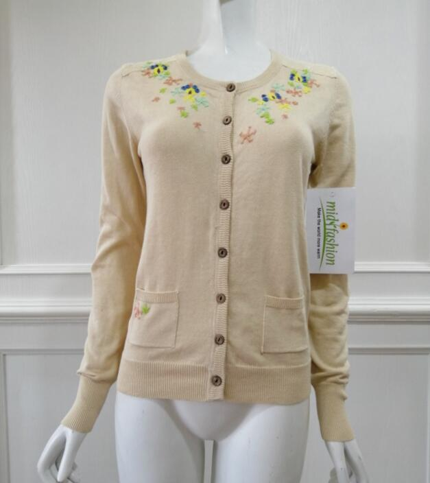 China Womens Knitted embroidery cardigan