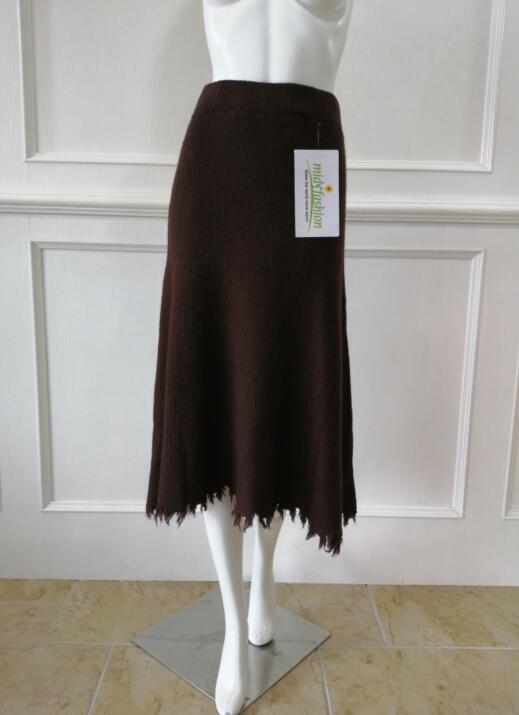 Womens knitted skirt long - Sweater Factory China