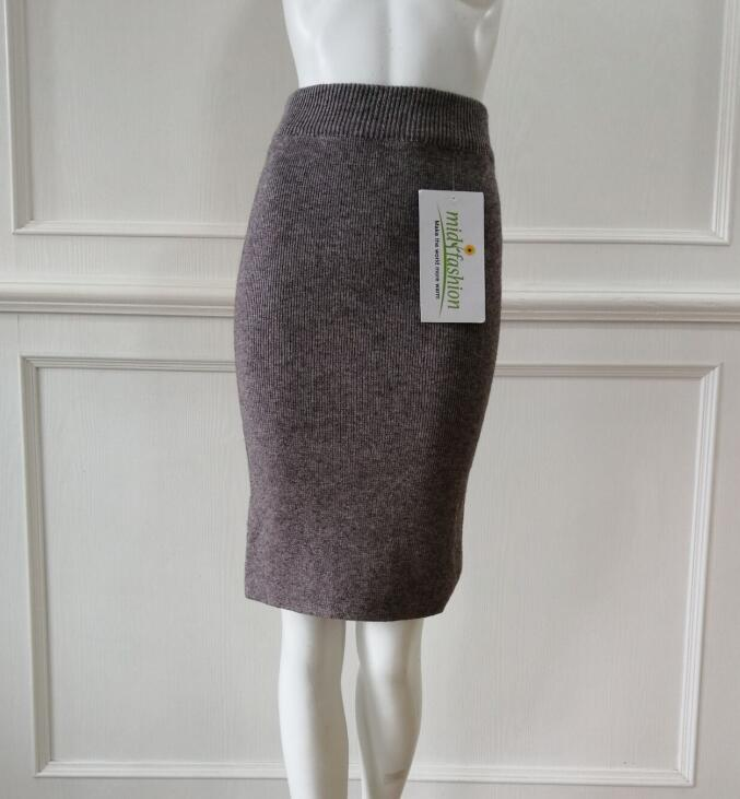China Sweater Manufacturer Womens knitted skirt long