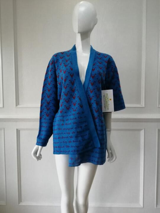China Sweater Factory - Womens Jacquard Cardigan Sweater Manufacturer