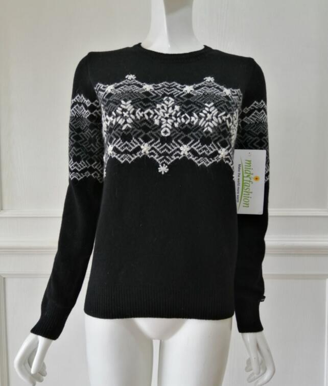 China sweater manufacturer - Jacquard sweater Pullover Womens