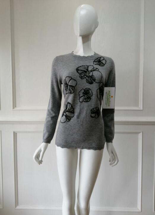 Sweater Factory in China Womens Embroidery Pullover Manufacturer