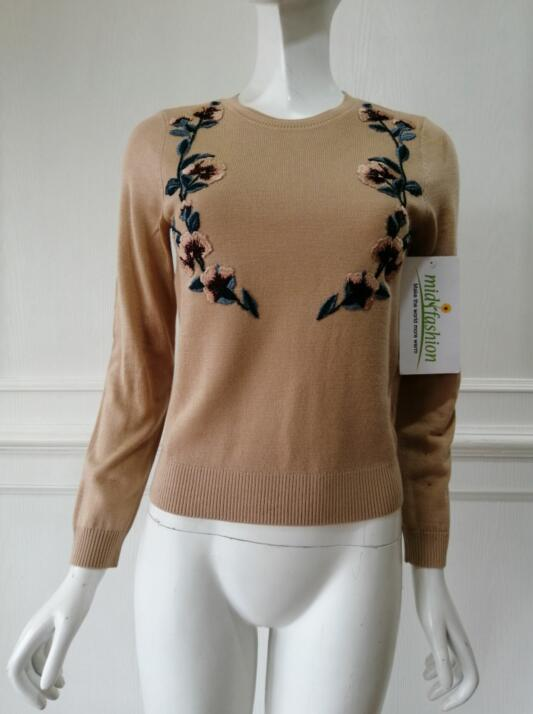 womens China sweater Factory Embroidery Pullover Sweater manufacturer