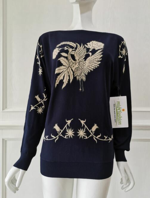 China sweater manufacturer womens Print Pullover factory