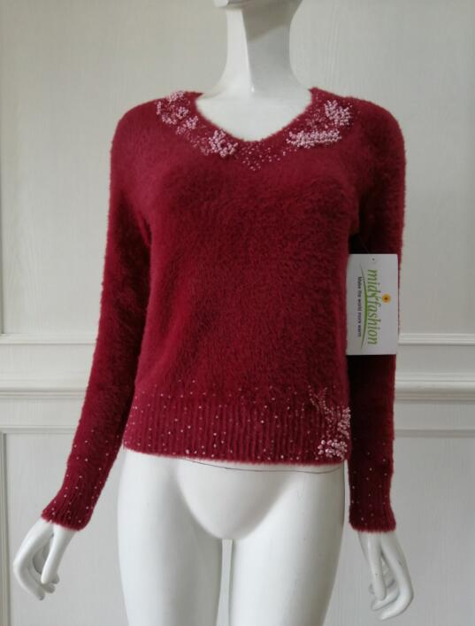womens Bead Pullover sweater -  China sweater manufacturer