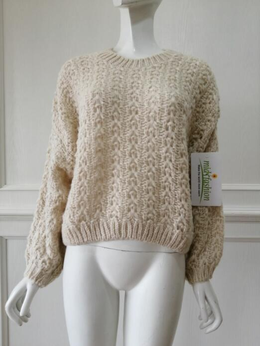 China Sweater Factory Knit Hollowed Pullover