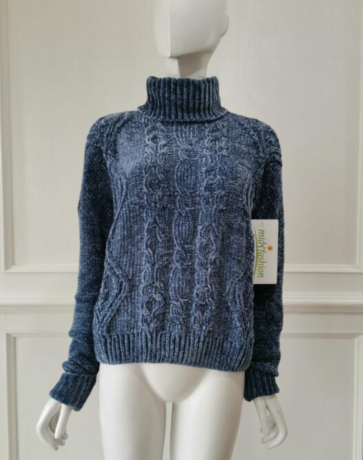 Chenille Knit Pullover Sweater - Sweater Factory China