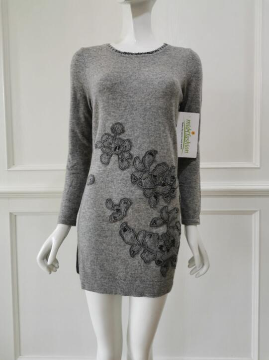 womens Rhinestone Sweater Dress in China sweater manufacturer