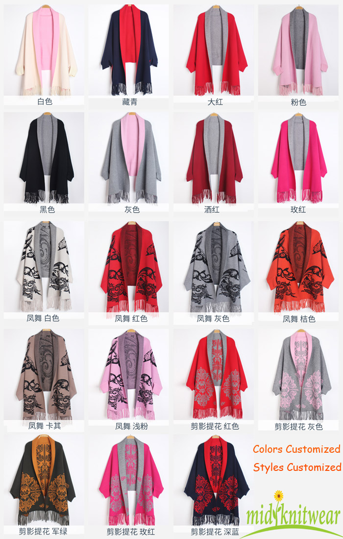 Poncho manufacturer customized china knitting poncho factory
